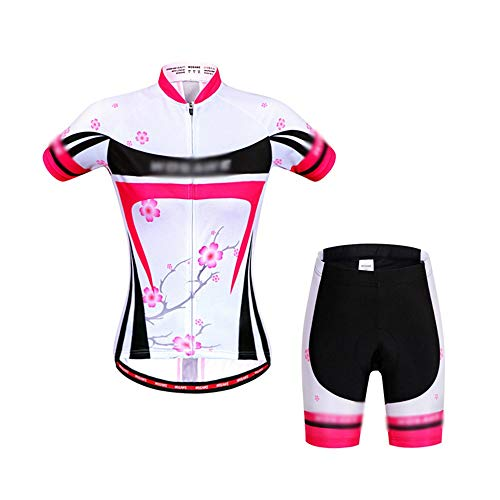 FELICIGG Sommer Mountain Road Bike Reiten kurzärmelige Anzug Reitshirt Silikon Reithose (Size : S)
