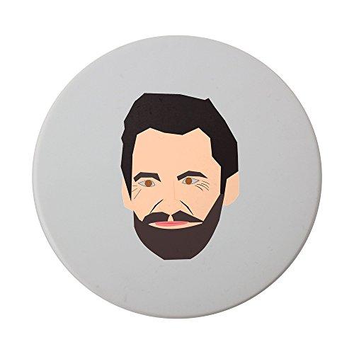 El famoso Actor de Australia Que a menudo retrata la Lobezno. Este es un Vector file fabricado en inkscape en. wikipedia. Org Wiki Hugo _ Jackman cerámica redondo posavasos
