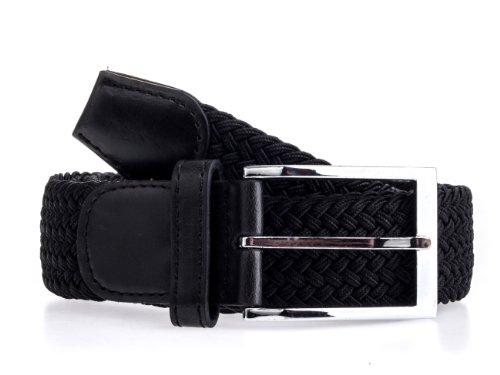 exxtrafein Damengürtel Stretchgürtel Damen elastik gürtel elastisch dehnbar schwarz blau braun rot (110 cm, schwarz)