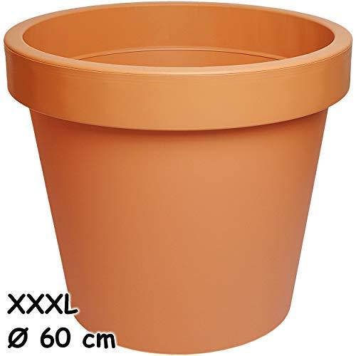 alles-meine.de GmbH 5 Stück _ Design - XXXL - große Blumentöpfe / Pflanzkübel / Pflanzschale - Ø 60 cm - 100 Liter - terrakotta - braun / Caramel - rund - Gross - Kunststoffkübel..