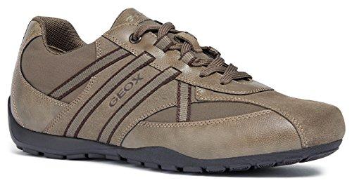 Geox U743FB Uomo Ravex Sportlicher Herren Sneaker, Schnürhalbschuh, Freizeitschuh, atmungsaktiv, herausnehmbare Innensohle Grau (Dove Grey), EU 40 - Geox-mesh-sneakers