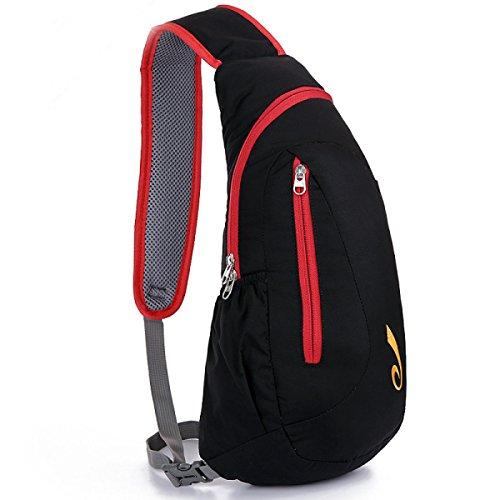 BULAGE Paket Paket Brust-Pakete Freizeit Mode Männer Und Frauen Leicht Ultra-dünn Wasserdicht Nylon Outdoor Sport Langlebig Red