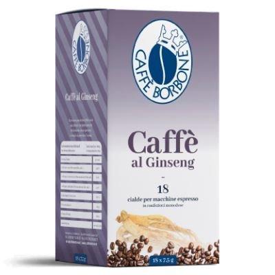 Caffè borbone - cialde miscela ginseng - confezione da 36 pezzi - filtro in carta da 44mm