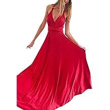 Vestido de Fiesta de Mujer Sin Mangas de Boho Maxi Largo Vestidos de Cóctel