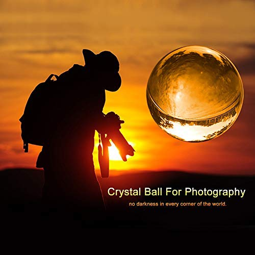 MerryNine Foto Objektiv Ball mit Tasche, K9-Kristall Sonnenfänger Ball mit Mikrofaser-Beutel, Dekorativ und Fotografie Zubehör (Fotografie Ausrüstung)