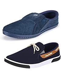 6973a67e214 Bersache Premium Quality Combo Pack of 2 Stylish   Designer Multicolor Canvas  Loafer   Moccasins Shoes