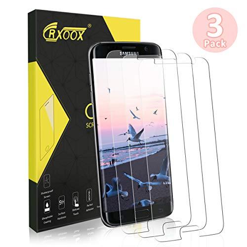 CRXOOX [3 Stück] Panzerglasfolie für Samsung Galaxy S7, Empfindliche Berührung und Ultra Klar, Präzises Design und 9H Härte Glasschutz für Samsung Galaxy S7 - Einfache Installation und Keine Blase
