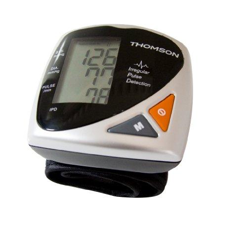 Pulsfrequenz Blutdruck (THOMSON TBPI 801W Blutdruckmessgerät für das Handgelenk, Speicherplatz für 85 Ergebnisse, WHO-Blutdruck-Indikator, messbare Pulsfrequenz, inklusiv Aufbewahrungsbox)