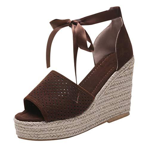 Vovotrade Tacco Donna Eleganti Peep-Toe Plateau Chiuse Estate Traspirante Heels Moda Stivaletti Comode Sandali