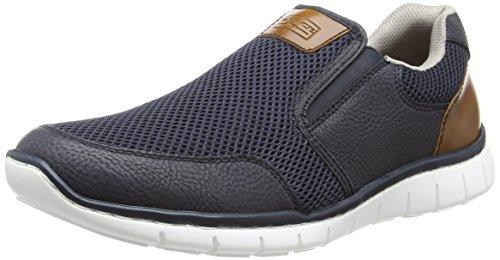 Rieker Herren B8762 Slip on Sneaker, Blau (Pazifik/Amaretto), 43 EU