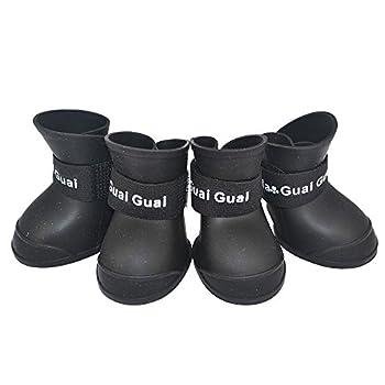 Ducomi® Chaussures pour chien impermeables - Noir, L