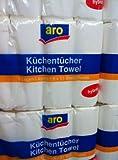 16 Rollen Küchenpapier Küchenrollen hochweiß 3-lagig Premium Qualität 51...