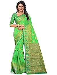 925f0331622480 CARTY SHOP Women s Traditional Art Cotton Banarasi SilkCARTY SHOP Sarees  For Women Kanjivaram Style With Blouse
