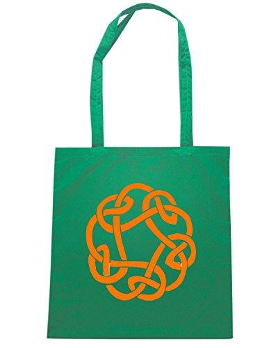 T-Shirtshock - Borsa Shopping FUN0371 613 celtic knots decal 3 99694 Verde
