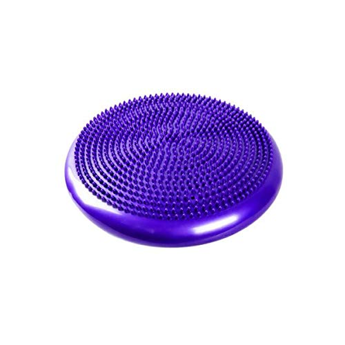 Balance-Pad, Yoga-Massagekissen, Kissen, Explosionsgeschützter Balance-Trainingsball, Balance-Platte, Rehakissen, Lila, Blau (Color : Purple)