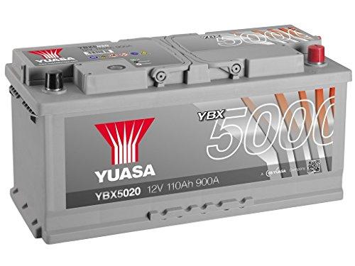 Yuasa YBX5020 High Performance Starter Battery, Silver - Best Price