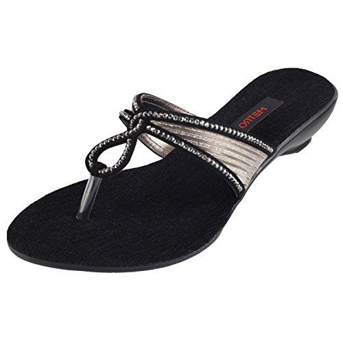 Metro Women Wedges Evening Footwear image