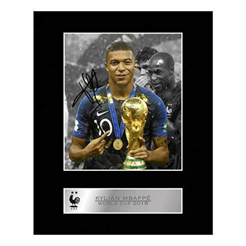 Kylian Mbappé Photo dédicacée encadrée France Coupe du monde de football # 2