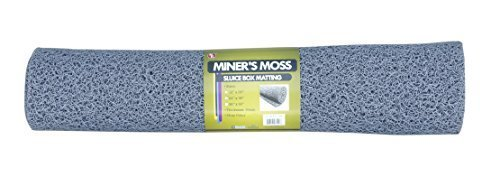 "SE GP-MT417-1GR Miner's Moss (Sluice Box Matting) in Grey, 23-3/4"" x 35"" by Sona Enterprises"