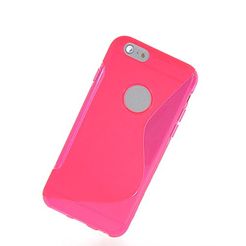 iPhone 6 Plus H¨¹lle,COOLKE [Schwarz] S-Line Design Schutzh¨¹lle Silikon Soft TPU Cover Case F¨¹r for Apple iPhone 6 Plus (5.5 Inch) Pink