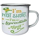 No Soy Corto Leprechaun M Retro, lata, taza del esmalte 10oz/280ml k797e