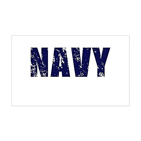 CafePress - Navy Rectangle Sticker - Rectangle Bumper Sticker Car Decal