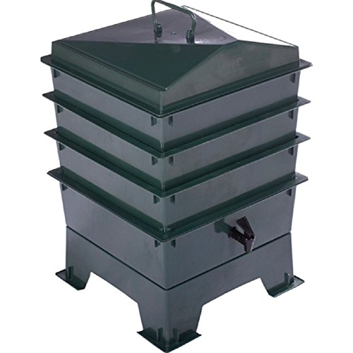 Mülleimer Küche Standard (Grün Tiger Rainbow Standard Wurmkomposter mit 3x Stapelbare Schalen, Kompost, Bio Komposteimer,)