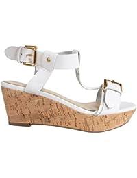 Sandales pour Femme MTNG 58255 VACHE BLANCO-NEGRO