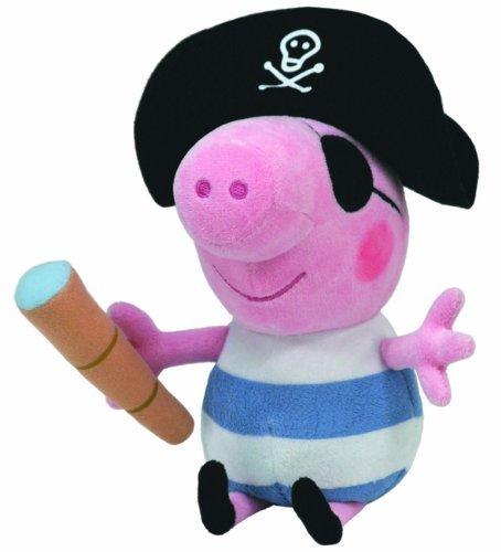 Preisvergleich Produktbild Ty Beanie Baby Peppa Pig–Pirat George Plüsch Spielzeug