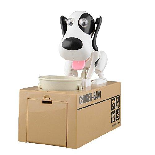 lobzon Robo de perro Coin Hucha de ahorro de centavos Hucha regalo divertido