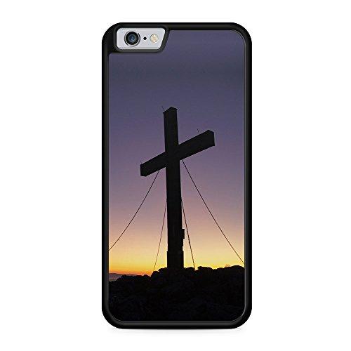 Kreuz Foto - Hülle für iPhone 6 & 6s SILIKON Handyhülle Case Cover Schutzhülle Hardcase - Jesus Christliche Religion Glaube Zitat Zitate Bedruckte Design Cross Christian