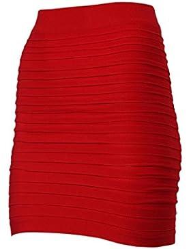A-LíNea Falda De Plisada Para Chica /Mujer LHWY, Mini Falda De EláStica De Alta Cintura Paquete Cadera Atractivas...
