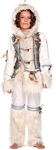 Costume di carnevale da eschimese ragazzo vestito per ragazzo bambino 7-10 anni travestimento veneziano halloween cosplay festa party 51018 taglia 8/m