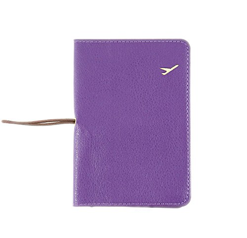 NOVAGO- Funda Cubierta protectora para pasaporte - Funda para el Pasaporte (Púrpura)