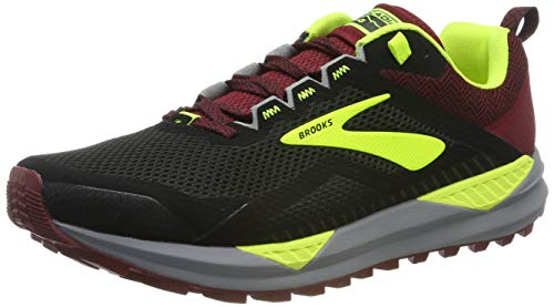 Brooks Cascadia 14, Zapatillas de Running para Hombre, Negro Black/Red/Nightlife 031, 45.5 EU