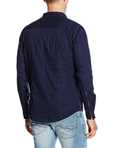 HOPE'N LIFE Herren T-Shirt Narfi Blau - Blau (Marineblau)