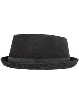 Hawkins Pork Pie H95 - Sombrero de pana negro (hombres, mujeres, unisex)