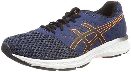 Asics Herren Gel-Exalt 4 Laufschuhe, Mehrfarbig (Dark Blue Black Shocking Orange), 45 EU