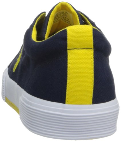 Ralph Lauren Felixstow SK VLC Navy Mens Trainers Newport Navy/Yellow