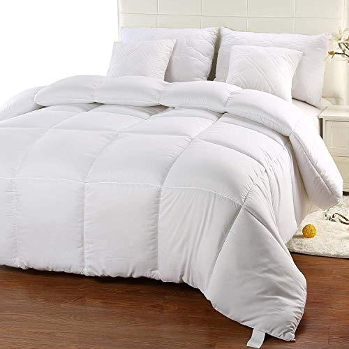 Utopia Bedding Invierno Edredón de Fibra, Fibra Hueca siliconada, 940 gramo (Blanco, Cama 80)