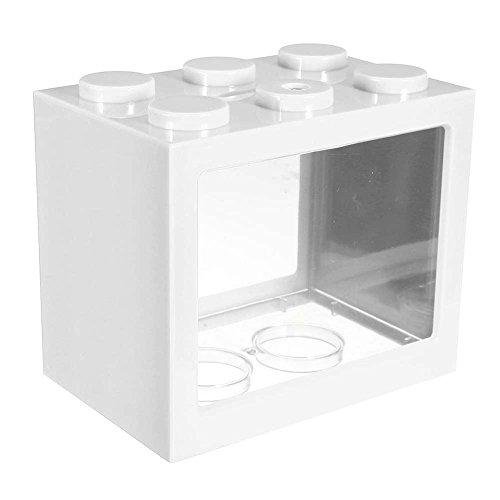 Dxlta Fish tank Mini iluminación LED Transparente