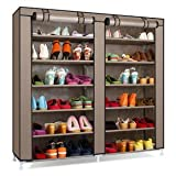 #4: Sterling Steel, Fabric Collapsible Shoe Stand (Multicolor & Multi-Design, 12 Shelves)