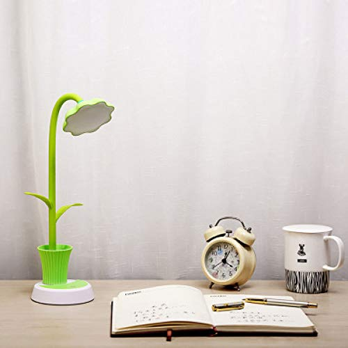 Sun Flower Stifthalter Schreibtischlampe Kreative Led Lade Augenschutz Lernen Schreibtischlampe Usb Lade Student Leselampe Licht Grün 25 * 22 *   14 Cm