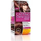 L'Oreal Paris Casting Creme Gloss Hair Color, Mahogany 550, 87.5g+72ml