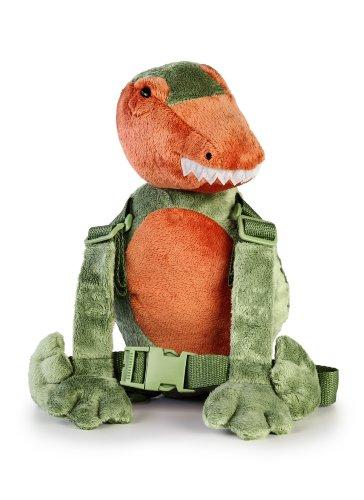 Goldbug Harness Buddy, Sicherheitsrucksack mit Leine für Kinder grün Dinosaurier einheitsgröße
