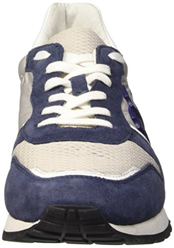 Bikkembergs Mant 650 L.Shoe M Nylon/Suede Scarpe Low-Top, Uomo Multicolore (Jeans/Grey/White)