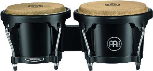 Meinl Percussion HB50BK ABS-Plastik Bongo-Set, Headliner Series, Durchmesser 16,51 cm (6,5 Zoll) Macho / 19,05 cm (7,5 Zoll) Hembra, schwarz
