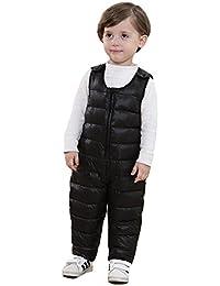 SANSEIJH Unisexe Enfants Bébés Salopette Hiver Softshell Combinaison de Neige Pantalons Chauds