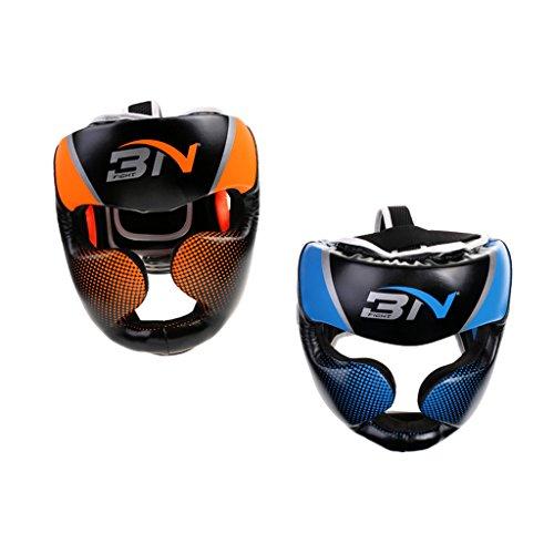 MagiDeal 2 Stk. Unisex PU Boxen Kopfschutz Gesichtsschutz für MMA Boxen Sparring