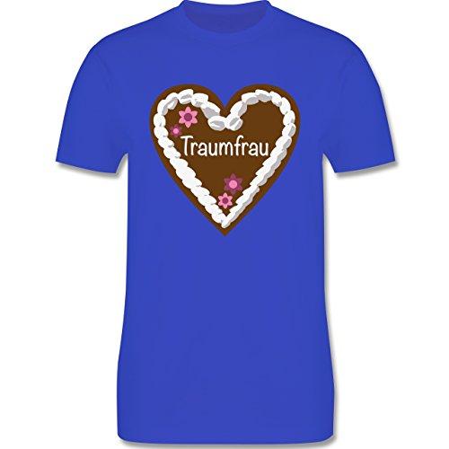 Valentinstag - Lebkuchenherz Traumfrau - Herren Premium T-Shirt Royalblau
